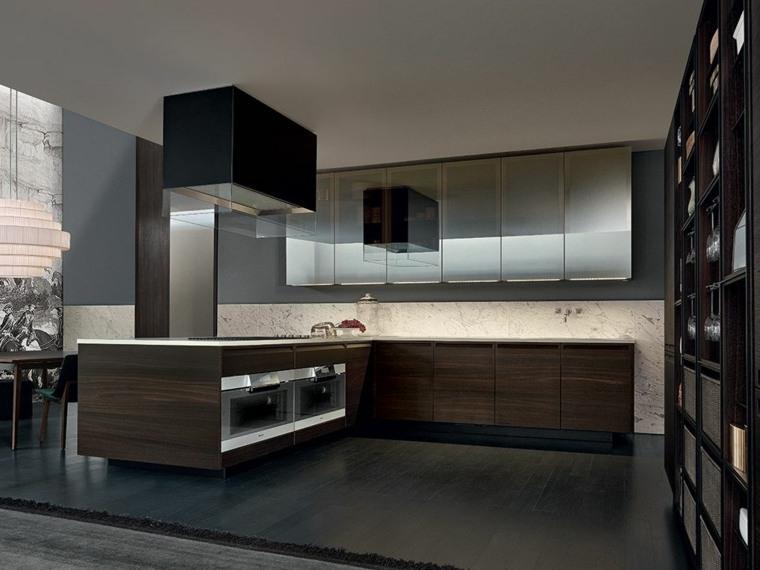 cocinas-de-madera-diseno-roble-oscuro