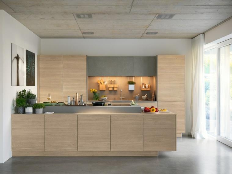 Cocinas de madera c mo elegir la mejor madera para los for Cocinas de madera de roble