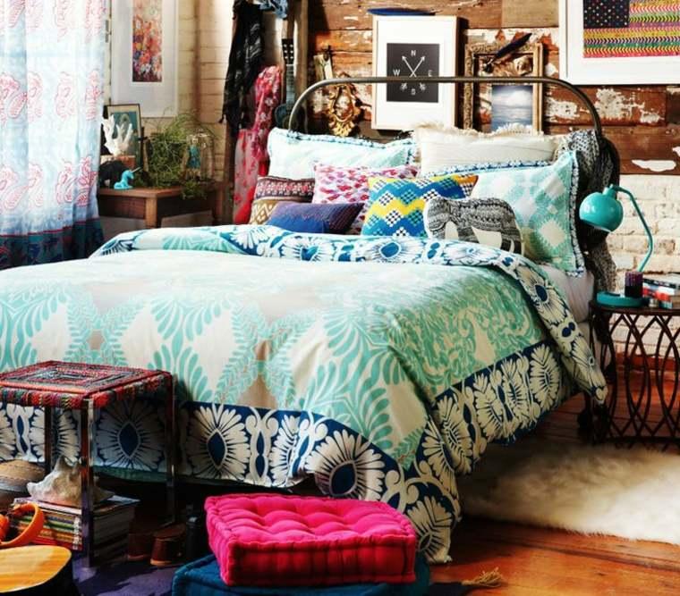 originales dormitorios boho chic