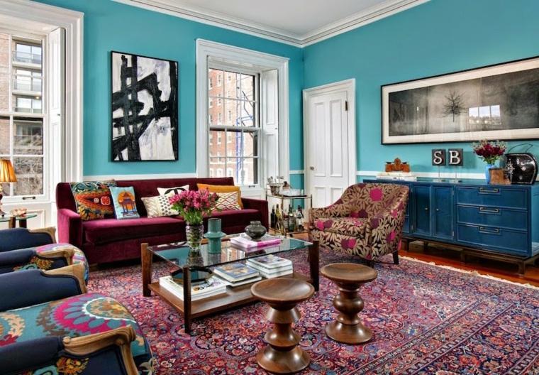 color-azul-diseno-habitacion-vintage
