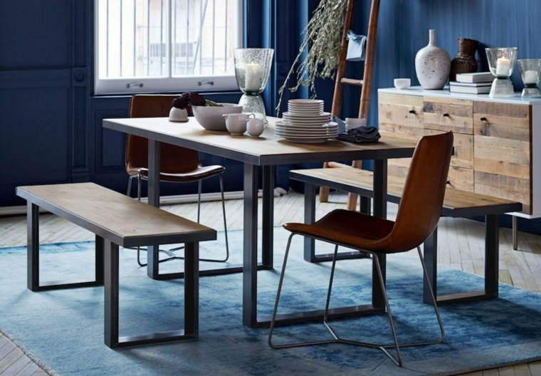 color azul-diseno-muebles-madera