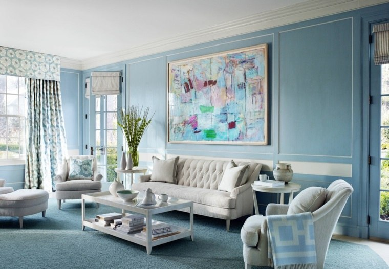 color-azul-diseno-salon-cuadro-destaca
