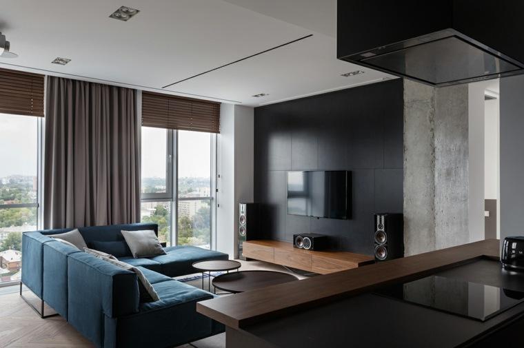 colores de pintura-diseno-negro-apartamento