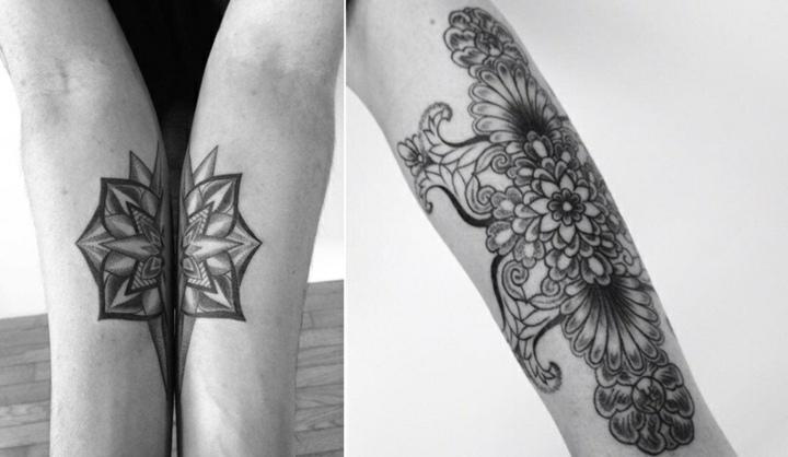 combinacion tatuajes brazos pareja