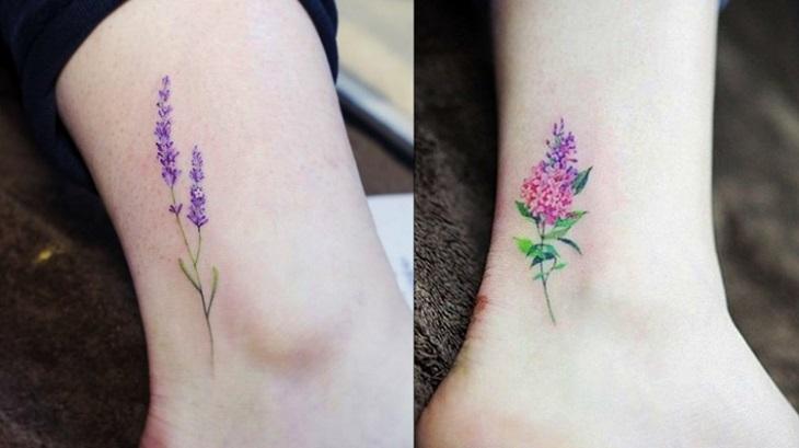 concepto colorido tatuajes tobillo