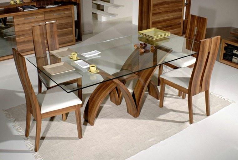 mesas con tapa de cristal