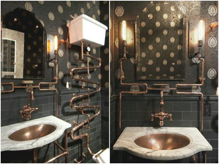 cuarto de baño steampunk