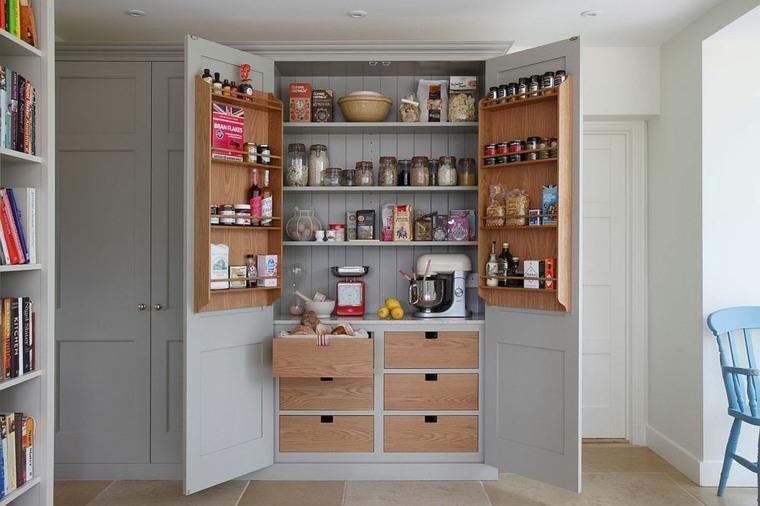 lugares apropiados para acomodar una despensa de cocina