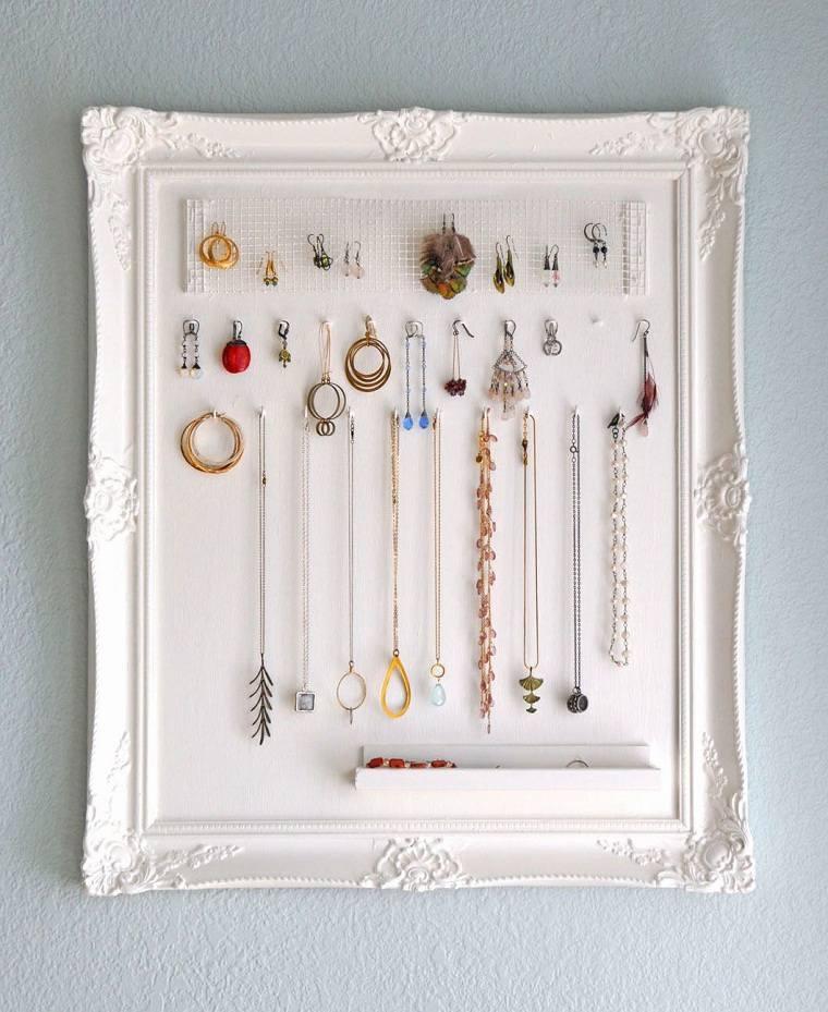 diy-decoracion-soporte-collares-marco-foto