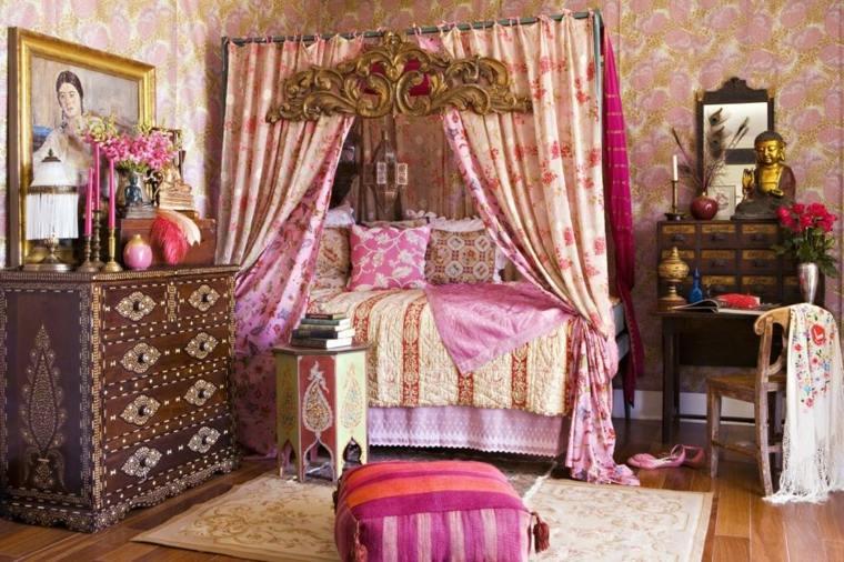 diseño de dormitorio boho chic