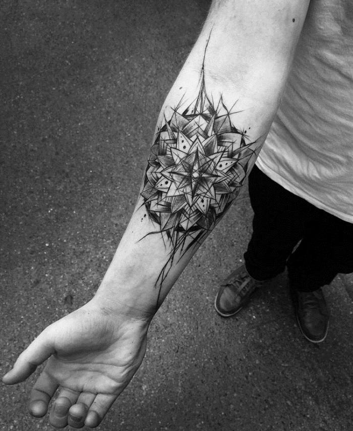 efecto especial simetrico tatuaje futurista