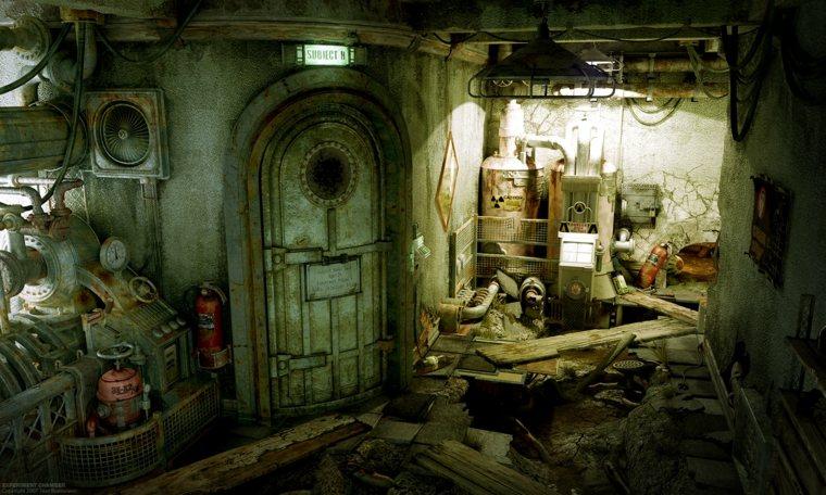 escena de steampunk