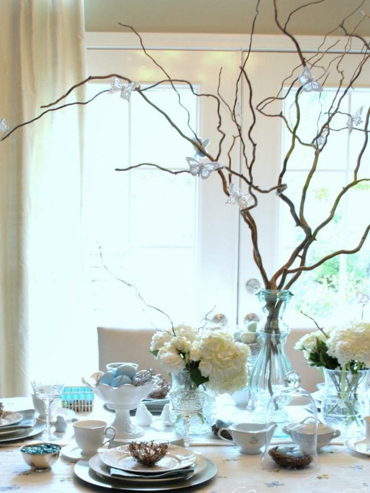 flores blancas comedor tradicional