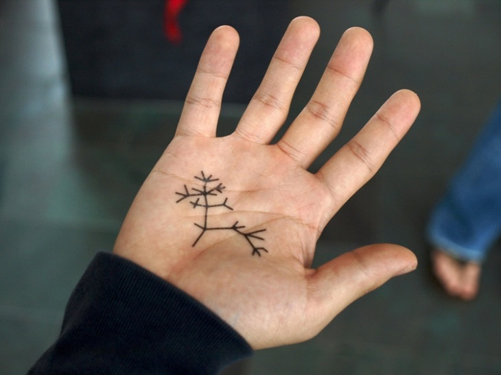 formas arboles naturales simples tatuadas