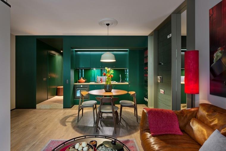 fotos-de-cocina-plano-abierto-color-verde