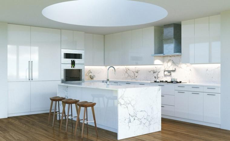 fotos-de-cocina-plano-abierto-isla-marmol
