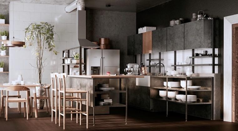 fotos de cocinas-plano-abierto-opciones-estilo