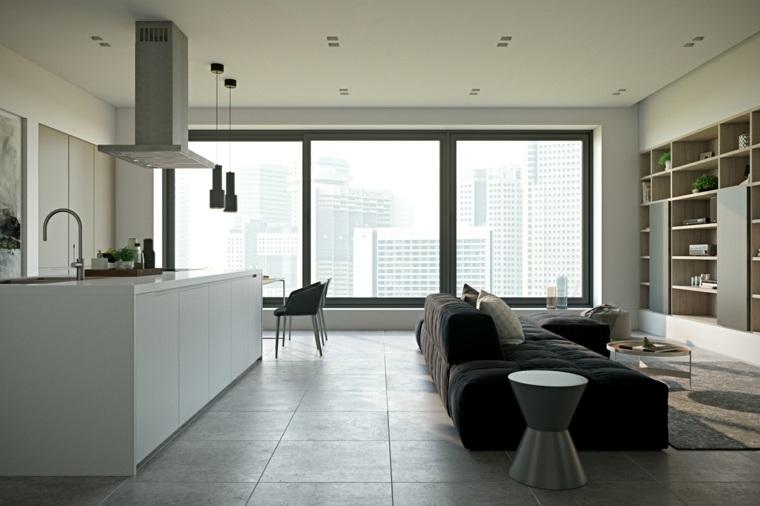 fotos-de-cocina-plano-abierto-salon-minimalista