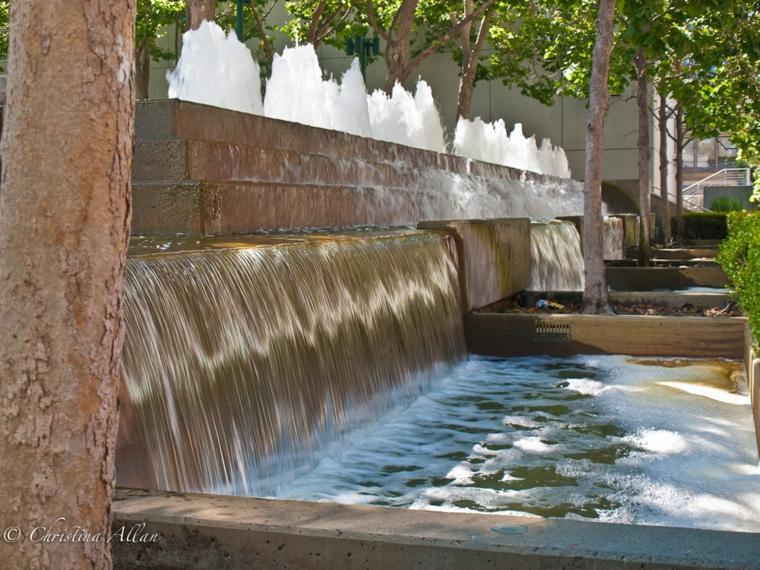 cascadas de jardín