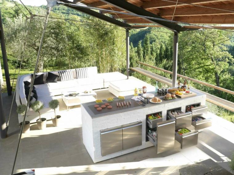 ideas cocinas-aire-libre-diseno-bajo-pergola