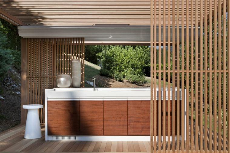 ideas cocinas-exteriores-disenos-pergola-madera