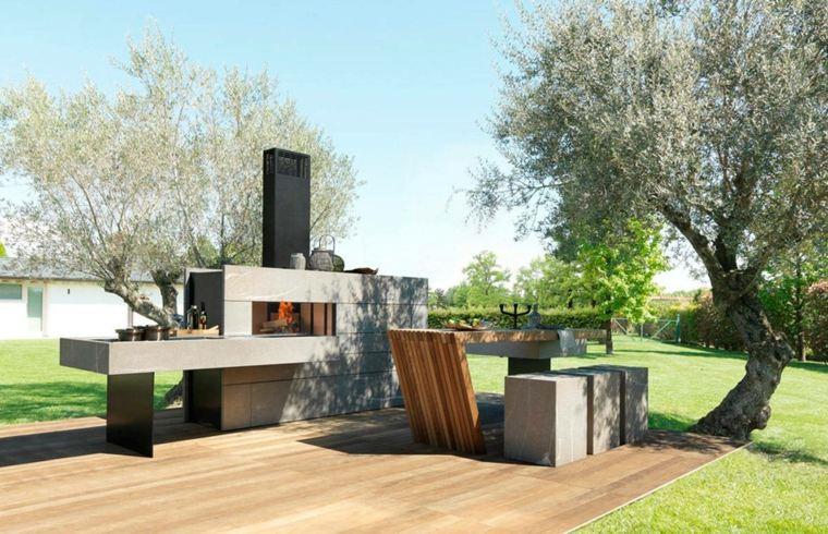 ideas-cocinas-exteriores-disenos-suelo-madera
