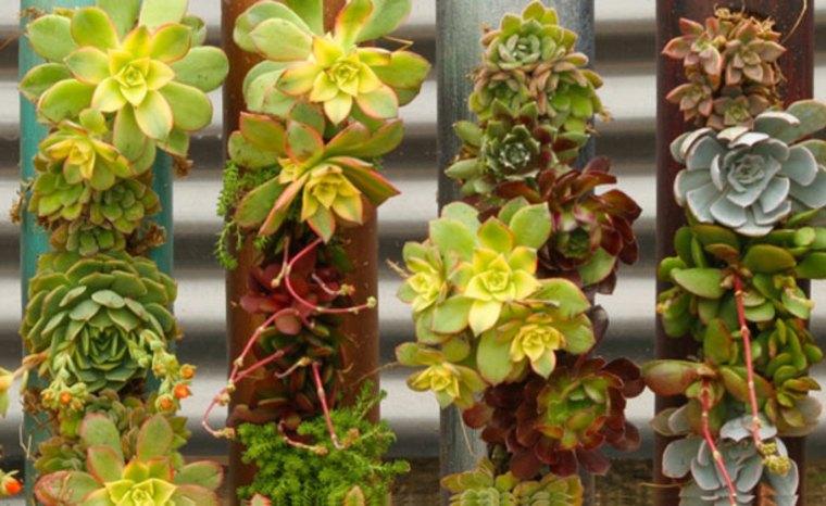 ideas sobre cómo hacer jardines verticales Diy de palets