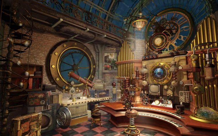 impresionante diseño steampunk