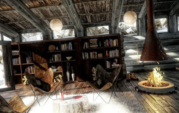 interiores con chimeneas