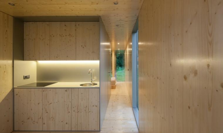 casa con interior de madera