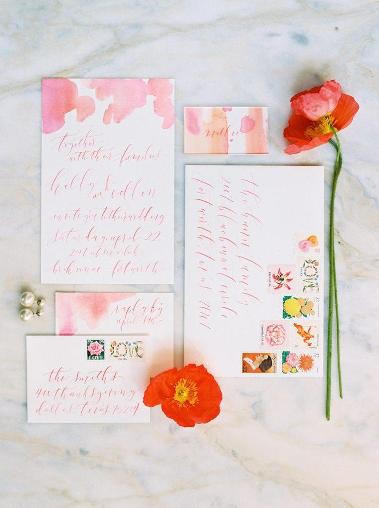 invitaciones de boda originales-boda-verano-detalle-color