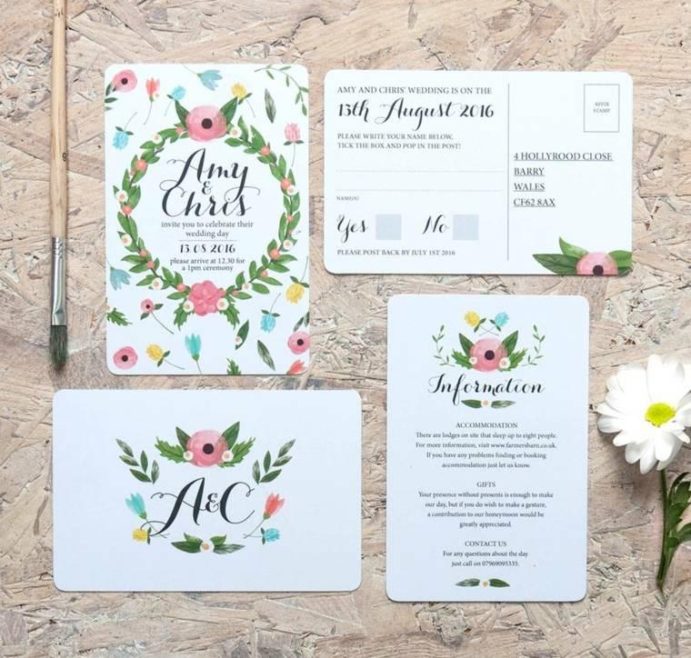 invitaciones de boda originales-boda-verano-flores