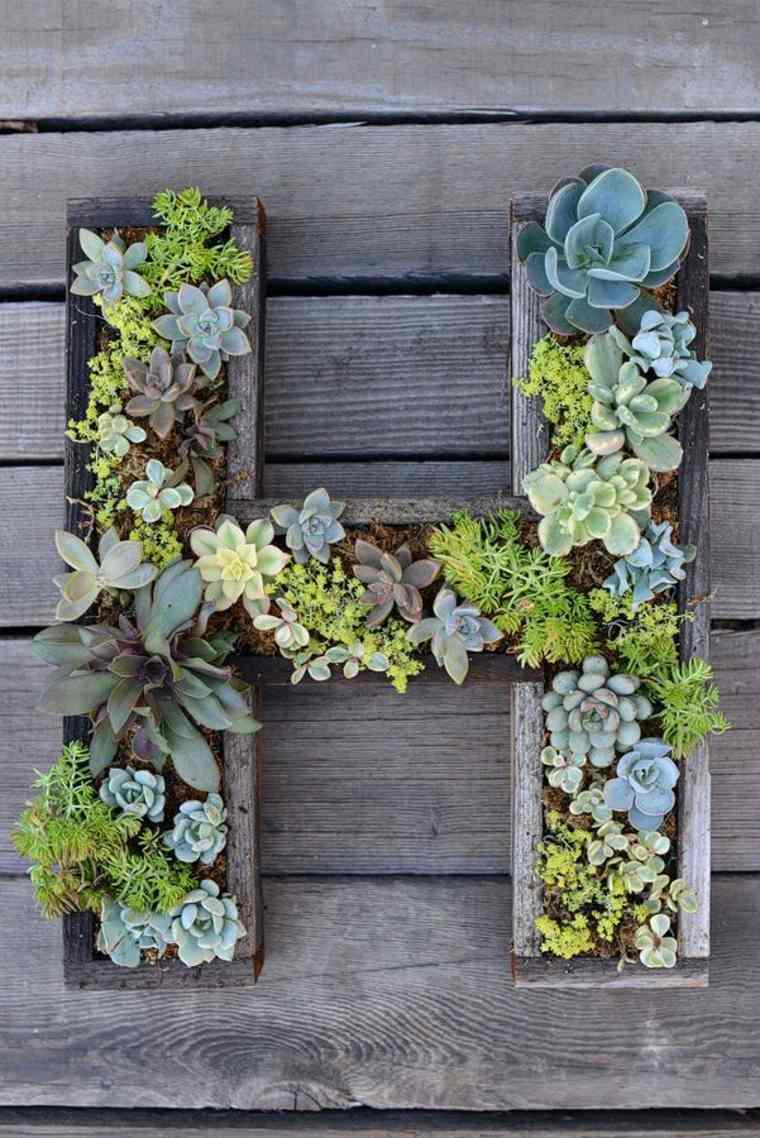 jardines verticales Diy con formas