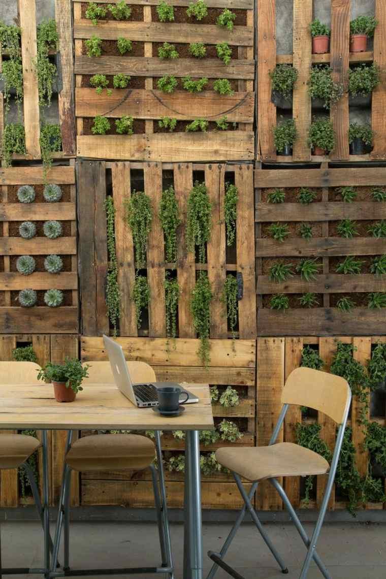 cómo hacer jardines verticales Diy de palets