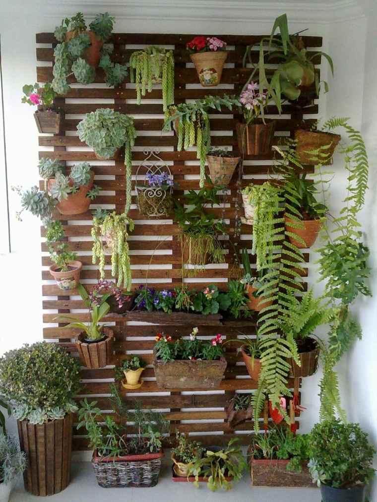jardines verticales Diy con macetas