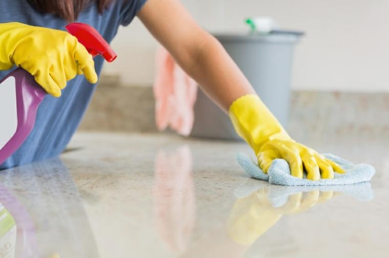 limpiar superficies de granito