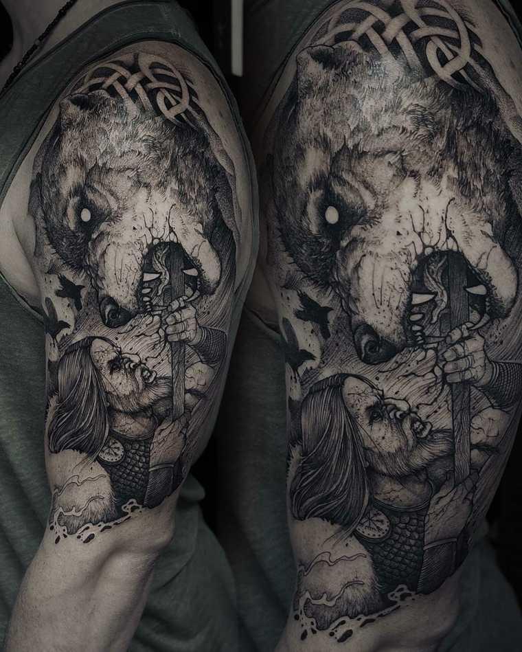 Tatuajes de lobos 75 ideas y dise os de los mejores for Los mejores tatuadores