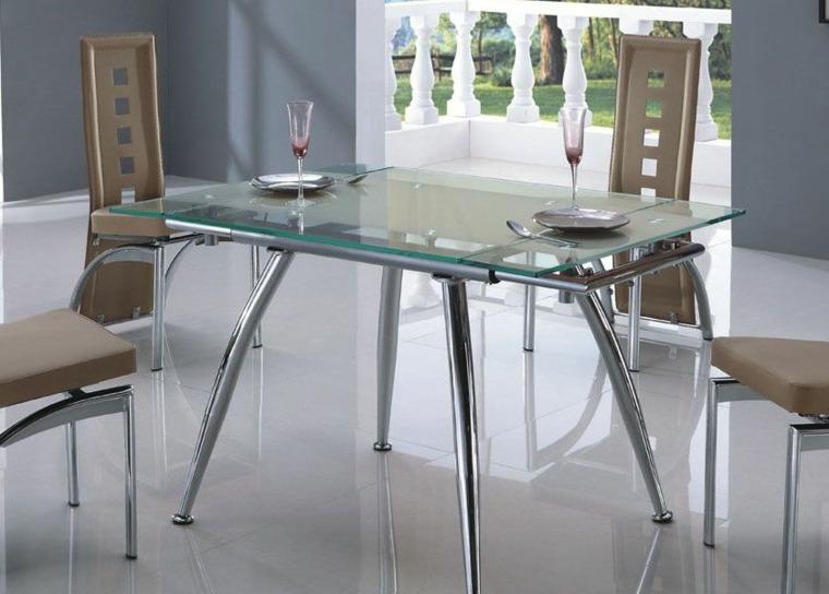 mesas con tapa de vidrio