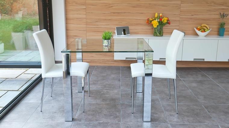 mesas con superficie de cristal