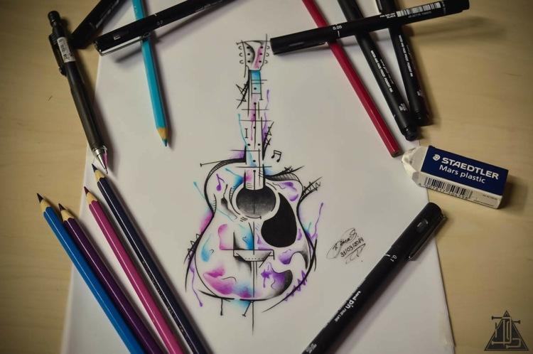 motivos para tatuajes inspirados guitarra