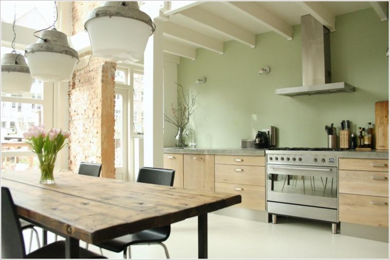 cocinas de madera clara