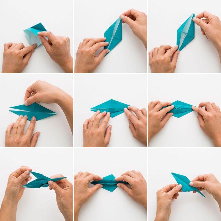 origami fácil decoracion-grulla-papel-instrucciones