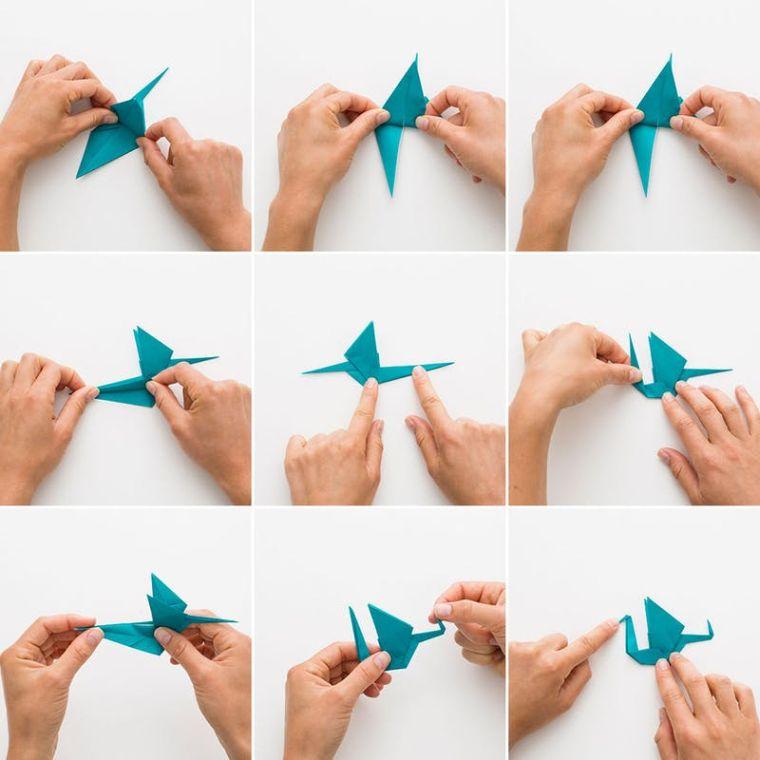 origami fácil-decoracion-grulla-papel-tutorial