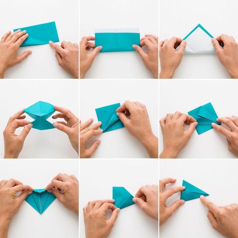 origami fácil-decoracion-grulla-papel