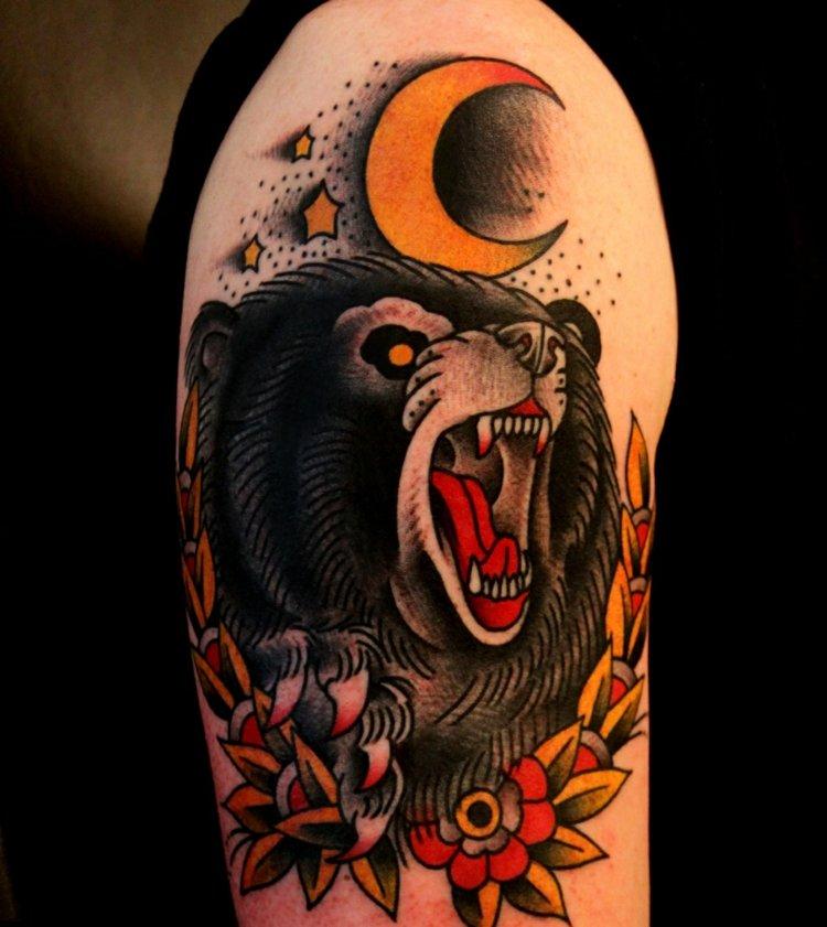 oso simbolo fuerza tatuajes
