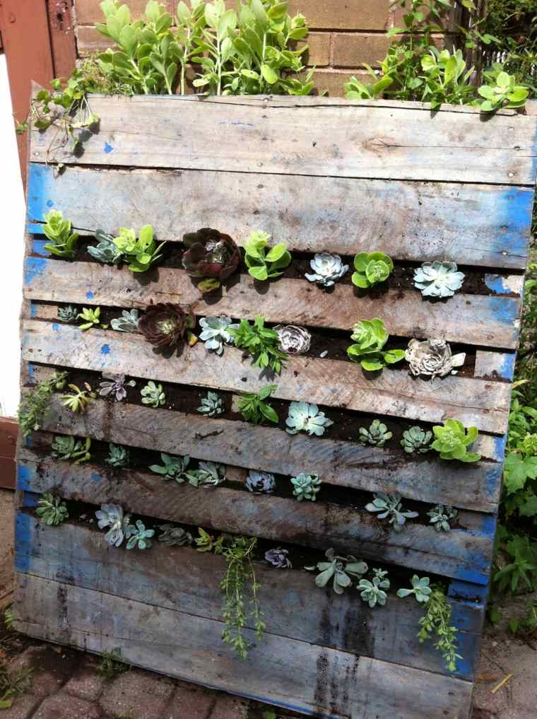 hacer jardines verticales Diy de palets