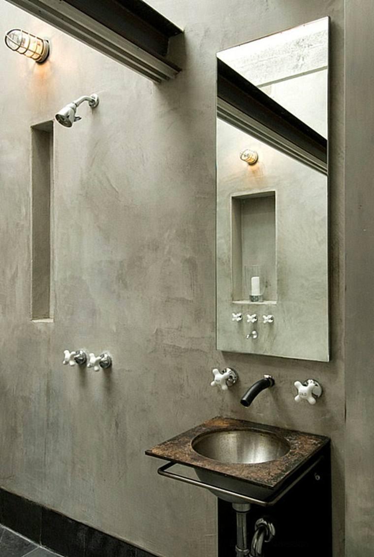 cuarto de baño de cemento