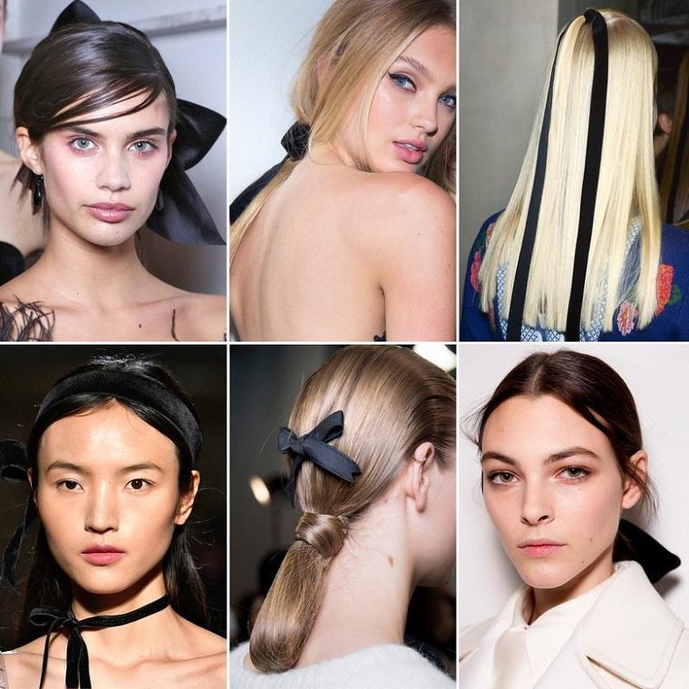 peinados de fiesta-lazos-negros