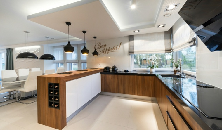 Cocina abierta - la distribución idónea para espacios pequeños -