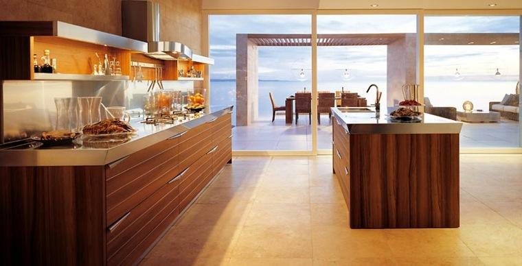 cocinas con muebles de madera